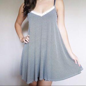 Dresses & Skirts - Open back striped dress